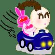 胡桃ハート人形&福ちゃん