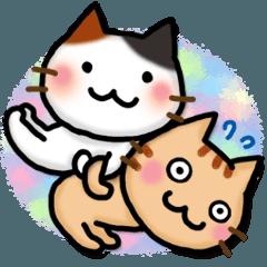 A cat that conveys feelings