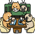 レジャー使い分けスタンプ(柴&パグ)