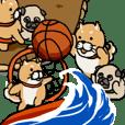 スポーツ使い分けスタンプ(柴&パグ)