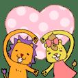 ライオン夫妻の日常