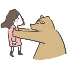 咻咻熊與小女孩(情侶對話篇4)