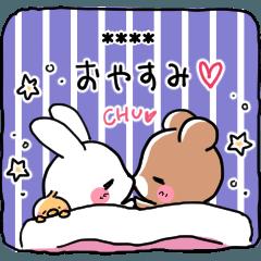 Rabbit &Bear's love Sticker Rabbit ver.3