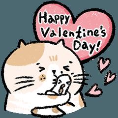 Rice cake Cat & A-Li VALENTINE'S DAY