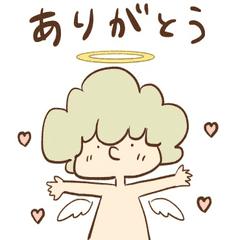 天使のルシ君あいさつスタンプ
