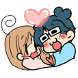 Yome-chan and Otto-kun of stickers