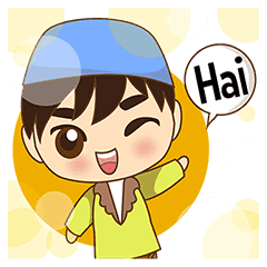 Adam Funny Moslem Boy Indonesian Line Stickers Line Store