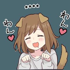 Dog girls sticker 2.5