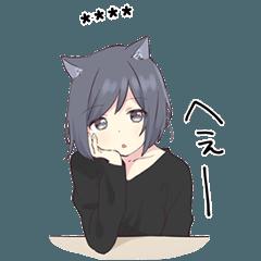 Cat girls sticker 1.5