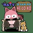 "ORI'S STICKER HAT'S ""OSANPO  NECOKO"""