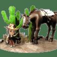 3D cowboy life sticker