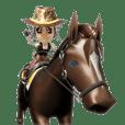 3D cowboy sticker