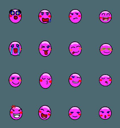 purple daily emoticon