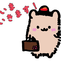 Hedgehog & Cocktiel Sticker