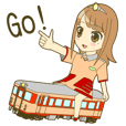Railroad Girl sticker