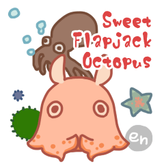 Sweet Flapjack Octopus Stickers (en)
