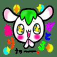 Sakura Mochikichi Greeting Sticker