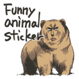 funny animal sticker international ver.