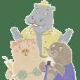 Pig, Hippopotamus, Mole