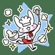 Cheerful patissier's rabbit & apple Ver2