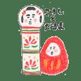 kokeshi&daruma