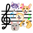 Music of dogs and Cats.