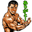 Muscle macho sticker