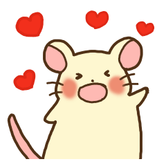 St.Valentine's day with White Mouse