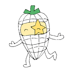 Wire carrot sticker (Indonesian version)