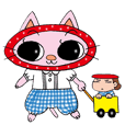 Cute cat sticker MARIKO