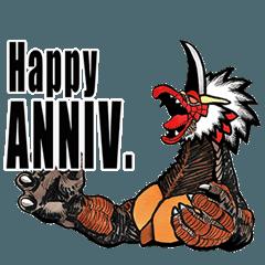 Kaiju Coaraptor celebration Sticker
