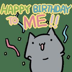 Oggi E Il Mio Compleanno Sticker Line Line Store