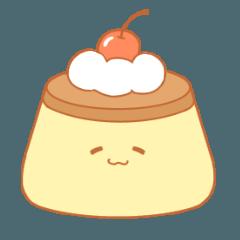 Four pudding sticker