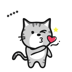 Grey striped cat!