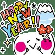 New Year Kaomoji sticker