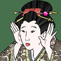 ukiyoe style and bijinga style