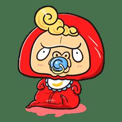 ゴリラ風の赤ちゃん