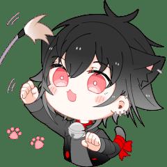 Black Cat Mitsuru Stickers 2