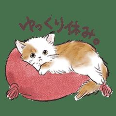 関西弁でいろいろ伝える猫たちのスタンプ