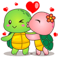 Pura the turtle in love