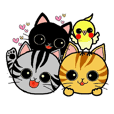 Sticker of apretty  pet