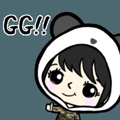 R-run's battle game sticker PANDA