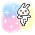 Happy friendly rabbit