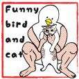 Funny bird and cat(ENG ver.)