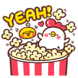 mini bibi popcorn stickers