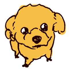 toy poodle cakego stickers