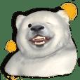 北極熊の赤ちゃん 3Dスタンプ