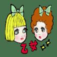 japanese otome sticker