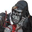 Office worker gorilla