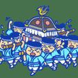 Mikoshi festival sticker of Tokyo